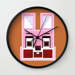 Block Robbie Orange Wall Clock
