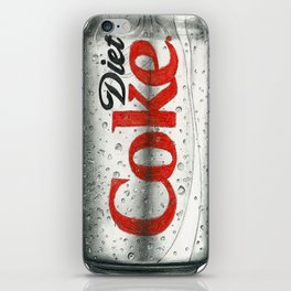 Diet Coke Pencil Sketch Art iPhone Skin