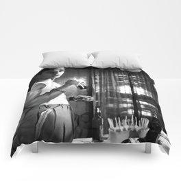 Marlon Brando as Stanley Kowalski  in the film A Streetcar Named Desire (Elia Kazan - 1951) Comforters