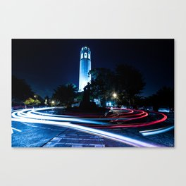 Coit Tower by nigth San Francisco Canvas Print