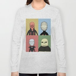 Adventure Time with Cenobites from Hellraiser Long Sleeve T-shirt