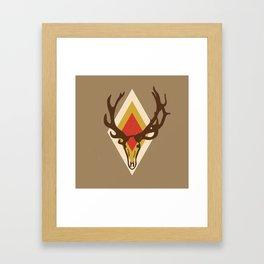 Stag Head Framed Art Print