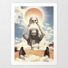Sadhu God Art Print