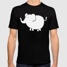 White Elephant  MEDIUM Black Mens Fitted Tee
