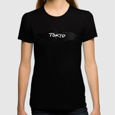 Tokyo Black X-LARGE Womens Fitted Tee