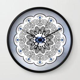 Third Eye Chakra Mandala Wall Clock