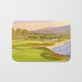 Pebble Beach Golf Course Holes 9 and 10 Bath Mat