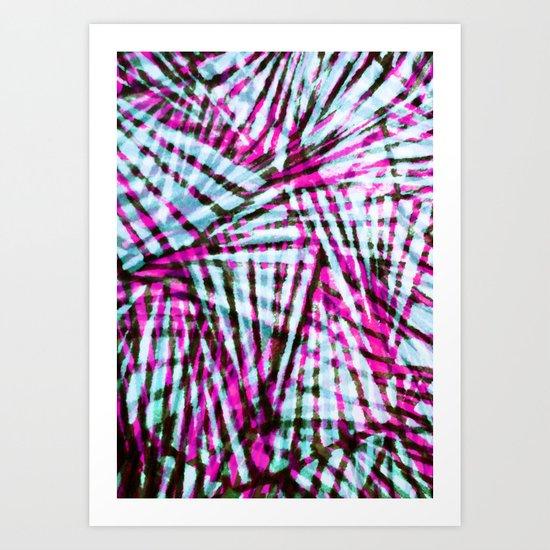 Pink Tiger Stripes Art Print