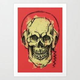 skullSound Art Print
