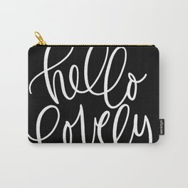 Hello Lovely - Elegant Calligraphy  Carry-All Pouch