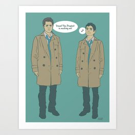 Cas & Kevin - Supernatural Art Print