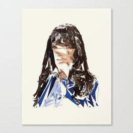 Zoey Deschenel Canvas Print