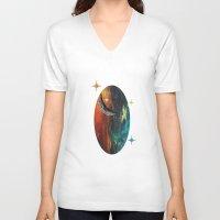 night sky V-neck T-shirts featuring Night Sky by JDHicks