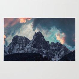 Magic mountain sunset Rug