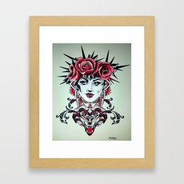 wolfs queen Framed Art Print