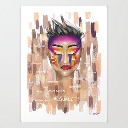 #EQUALITY Art Print