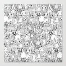 crazy cross stitch critters Canvas Print