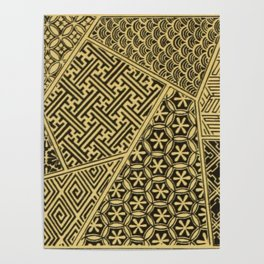 Japanese Patterns Poster