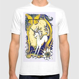 Unicorn Butterfly Woodland Landscape T-shirt