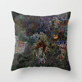 Witch Doctor and Baba Yaga Throw Pillow