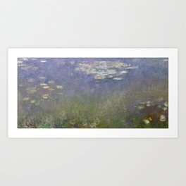 Water Lilies (Agapanthus) by Claude Monet (c.1915–1926) - Fine Art Collection Art Print