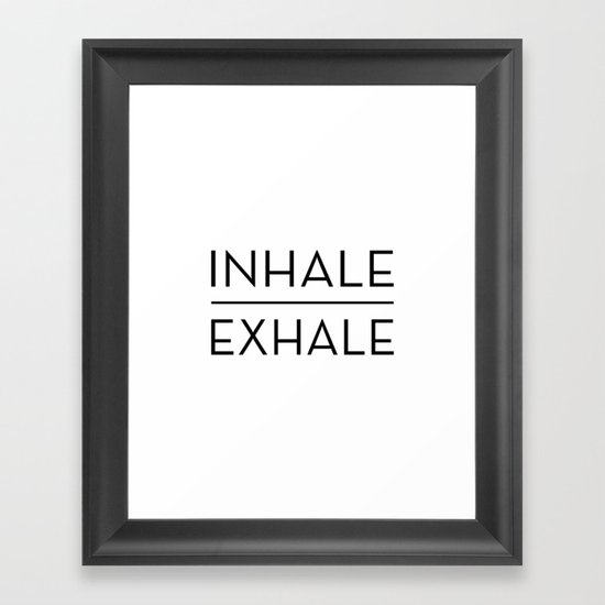 Inhale Exhale Breathe Quote by blueskywhimsy