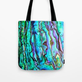 Glowing Aqua Abalone Shell Mother of Pearl Tote Bag
