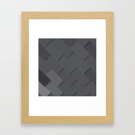 Grey/gray pattern, layered like shingles, tiles or those paint swatches you just cannot choose from! Framed Art Print