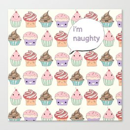 I'm Naughty Canvas Print