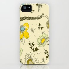large flowers - cream and yellows Slim Case iPhone (5, 5s)