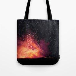 Kilauea Volcano Eruption. Tote Bag