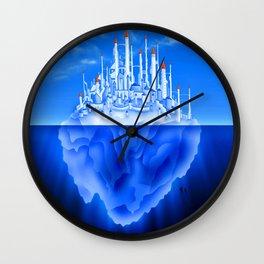 Iceberg City Wall Clock