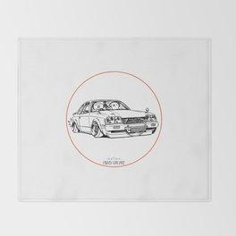 Crazy Car Art 0208 Throw Blanket