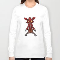 fnaf Long Sleeve T-shirts featuring FNAF Foxy by Draikinator