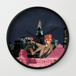 Pink egypt Wall Clock