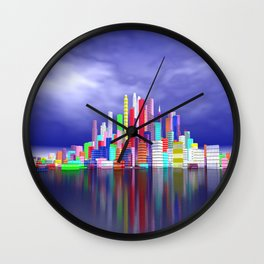city in nowhereland Wall Clock