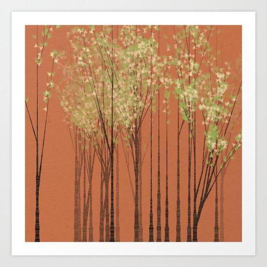 Summer Afternoon Forest Art Print
