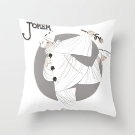 Joker / Pierrot Throw Pillow