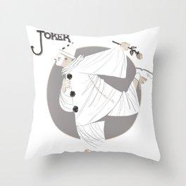 Joker / Pierrot Throw Pillow
