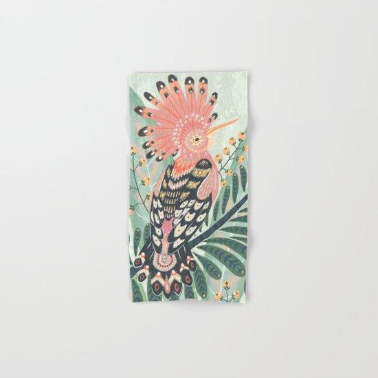 Hoopoe Bird Hand & Bath Towel
