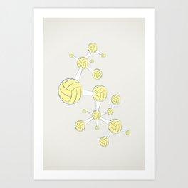 Soccer DNA Art Print