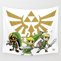 the legend of zelda Wall Tapestries featuring The Legend of Zelda by jorgeink