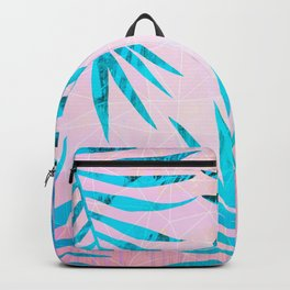 Refreshing Geometric Palm Tree Leaves Tropical Chill Design Backpack