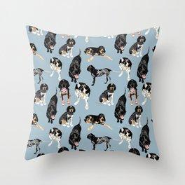 Bluetick Coonhounds Throw Pillow
