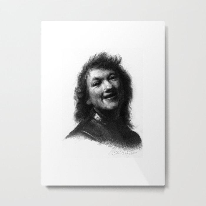 Rembrandt Himself Metal Print