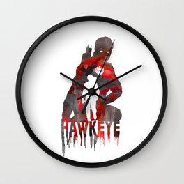 Hawkeye Print Wall Clock