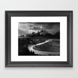 Ansel Adams - The Tetons and Snake River Framed Art Print