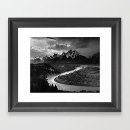 Ansel Adams - The Tetons and Snake River Framed Art Print