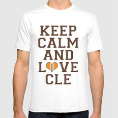 LOVE CLE BROWNS II Mens Fitted Tee MEDIUM White