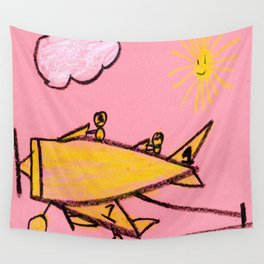 Aircraft Carrier Landing Wall Tapestry